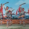 Ballerina's met kromzwaarden