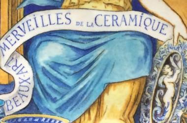 Detail bord, tinglazuuraardewerk, collectie Musée National Adrien Dubouché in Limoges