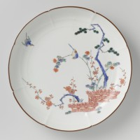 Bord, Japans porselein, collectie Rijksmuseum inv.nr. BK-1968-229-A
