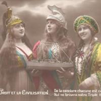 Allegorie 'Triple Entente', detail ansichtkaart, privécollectie