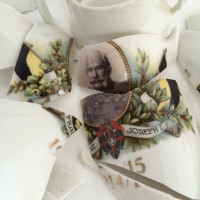 Detail scherven met Franz Joseph I