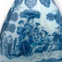 Delfts aardewerk, Chinese dame met parasol, privécollectie