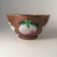 Detail decoratie van een perzik, kopje: privécollectie