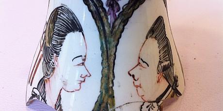Creamware Willem V en Catherina van Pruisen - Coll. Helinium