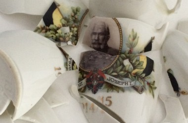Scherven vaas met Franz Joseph I