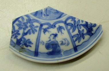 Dekseltje, porselein (collectie Gemeente Vlaardingen)