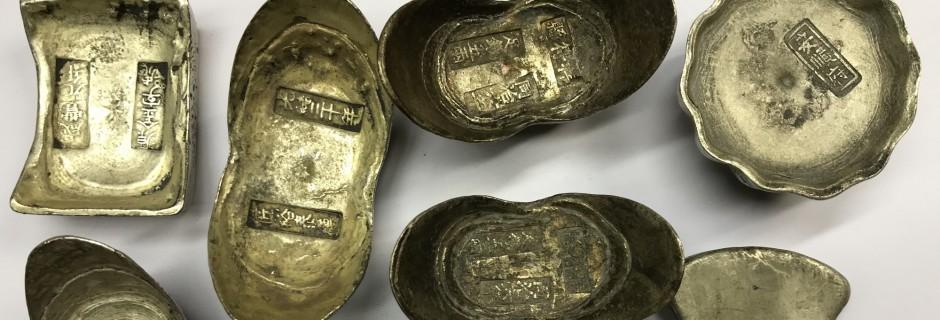 Verschillende zilverbaren uit China