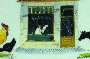 Detail Bord 'Slachtverbod' - uit serie van 5
