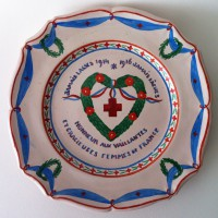Bord, aardewerk, privécollectie