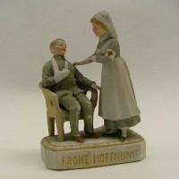 Beeldje, porselein, Collectie Streekmuseum Jan Anderson, Vlaardingen
