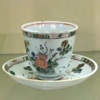 Kop en schotel porselein, collectie Musée National Adrien Dubouché,Limoges