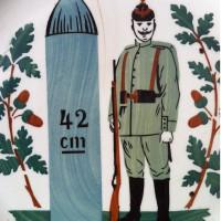 Detail soldaat en granaat